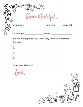 Free Printable Letter to Rudolph