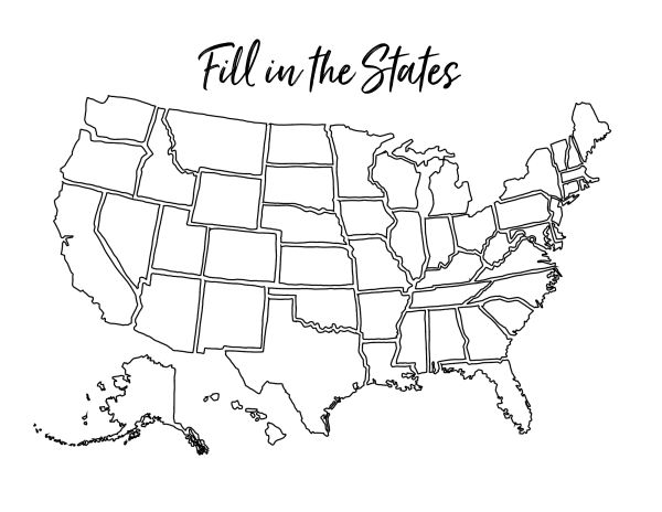 Homeschool Printables Fill In The States