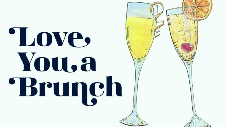love you a brunch mother's day card printable