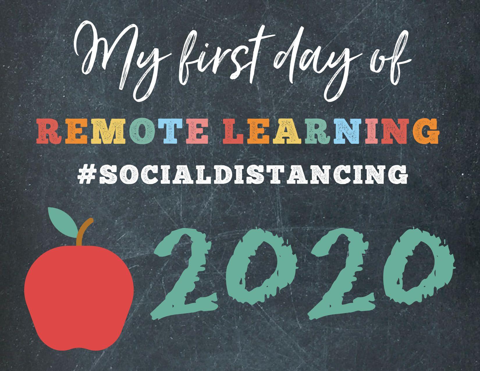 Chalk Board Remote Learning 2020-2021