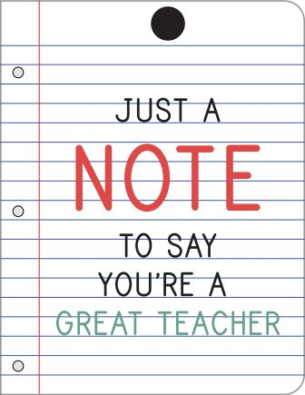 Just a note to say you're a great teacher
