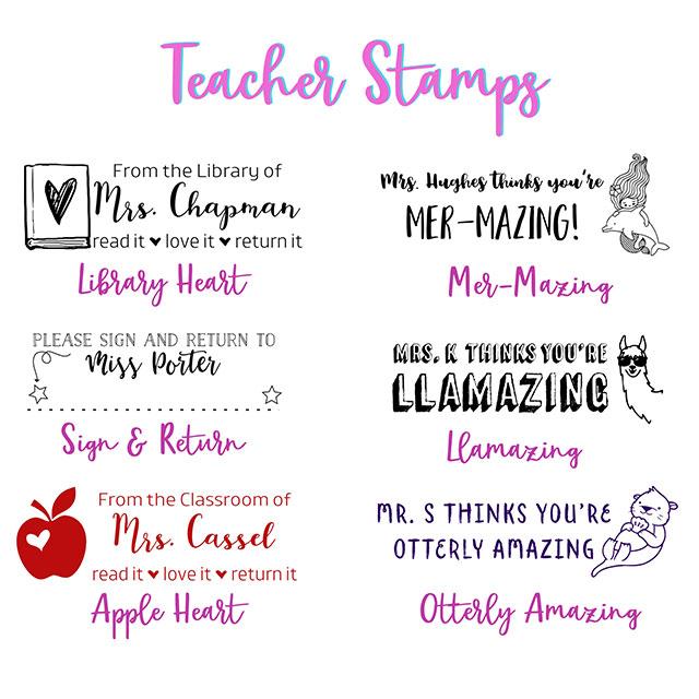Custom Name Teacher Stamps
